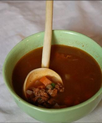 Merguez and Lentil Soup
