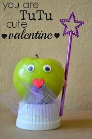 Fairy Princess Healthy Valentine Apples