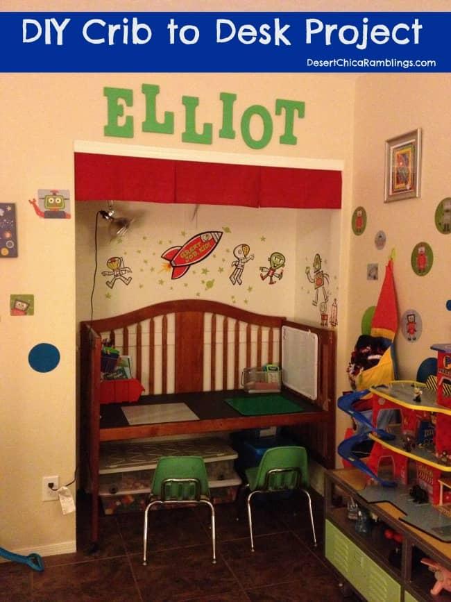 Crib to desk