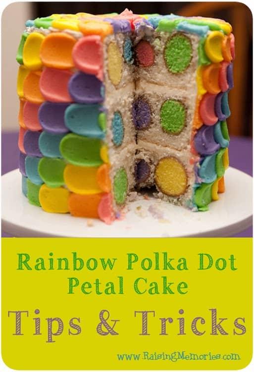 RainbowPolkaDotPetalCakeTipsTricks