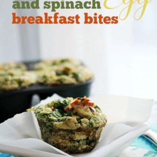 Bacon, Egg and Spinach Breakfast Bites