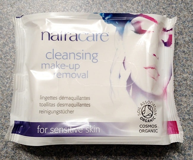 Natracare make up removal wipes