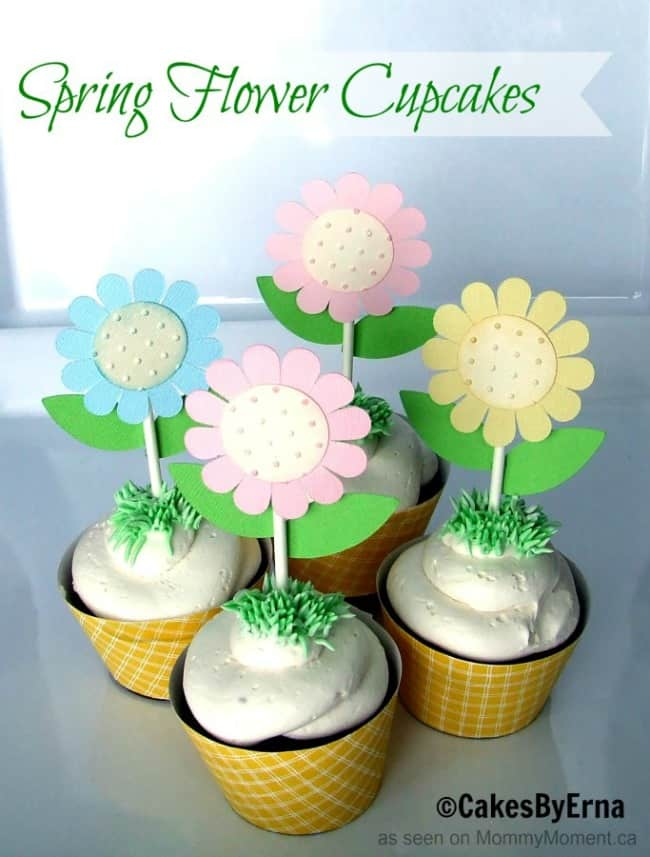 Spring-Flower-Cupcakes