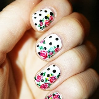 Summer Rose Nail Art