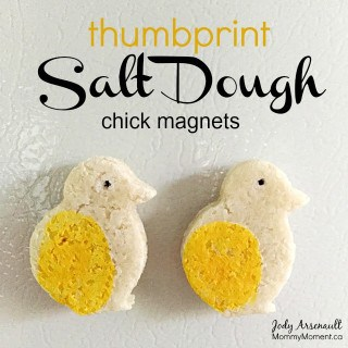 Thumbprint Salt Dough Magnets