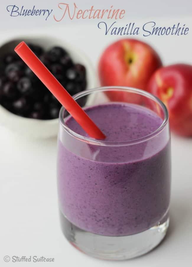 Blueberry-Nectarine-Vanilla-Smoothie