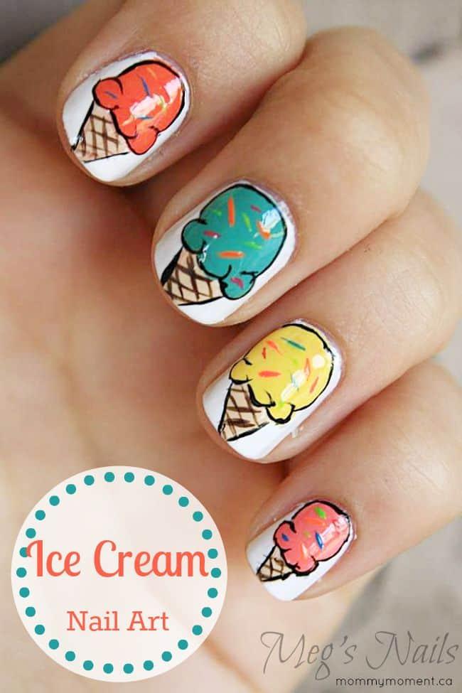 Ice Cream Nail Art