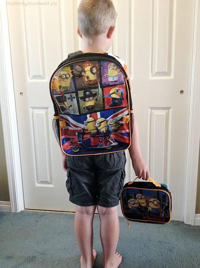 Minions Backpack Set