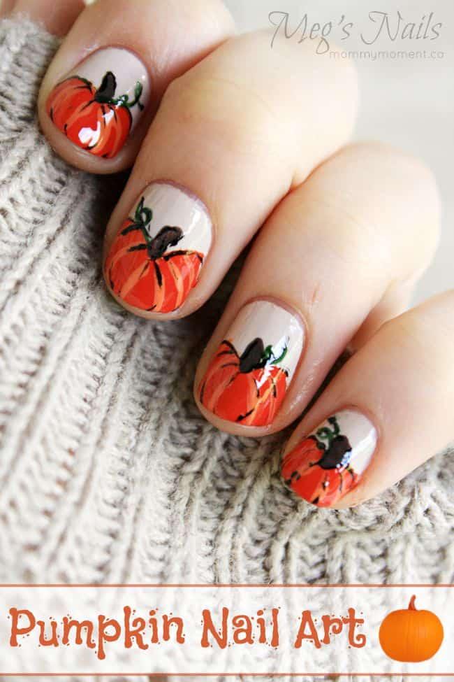 Pumpkin Nail Art - Nail Art