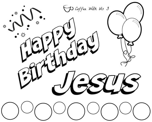Free christmas printables mommy moment for Jesus birthday coloring pages