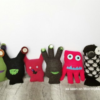 Friendly Monster Mittens Craft