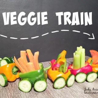 EASY Veggie Train Snack for Kids