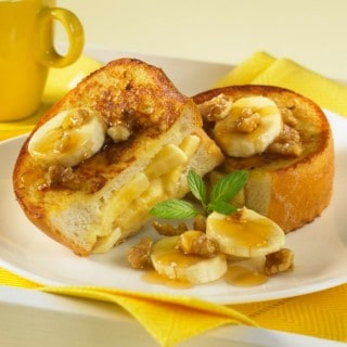 DELICIOUS BANANA NUT STUFFED FRENCH TOAST
