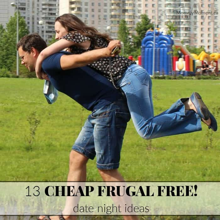 Cheap Frugal Free Date night Ideas square