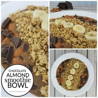 CHOCOLATE ALMOND SMOOTHIE BOWL RECIPE