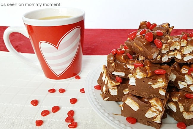 Chocolate Marshmallow red hearts