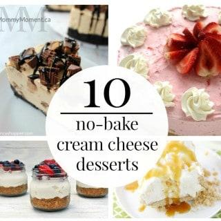 10 NO BAKE CREAM CHEESE DESSERTS