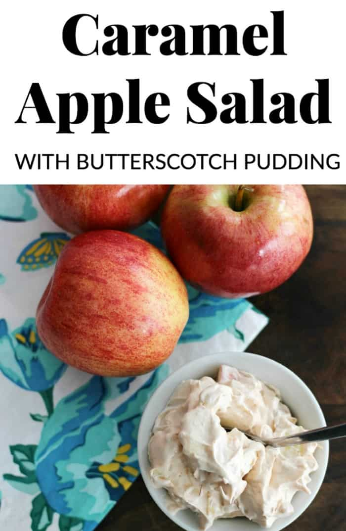 caramel apple salad is so easy and delicious to make.