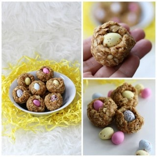 NO BAKE GRANOLA BAR MINI EGG NESTS