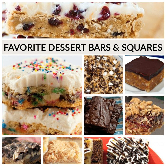 Delcious Dessert Bars and squares