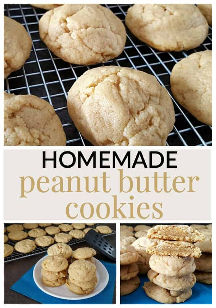 This homemade peanut butter cookie recipe gives a cookie that lightly crisp outside, and oh so soft and chewy inside!
