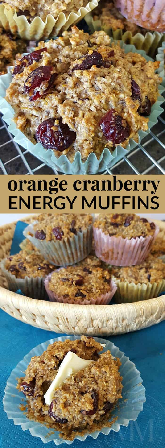 orange cranberry energy muffins