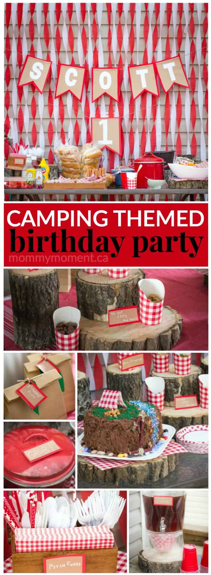 Christmas 1st Birthday Party Ideas Part - 22: Camping Themed Birthday Party So Cute For A First Birthday Party Idea.