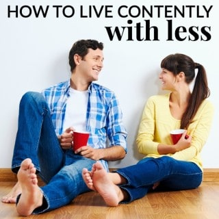 HOW TO LIVE CONTENTLY WITH LESS