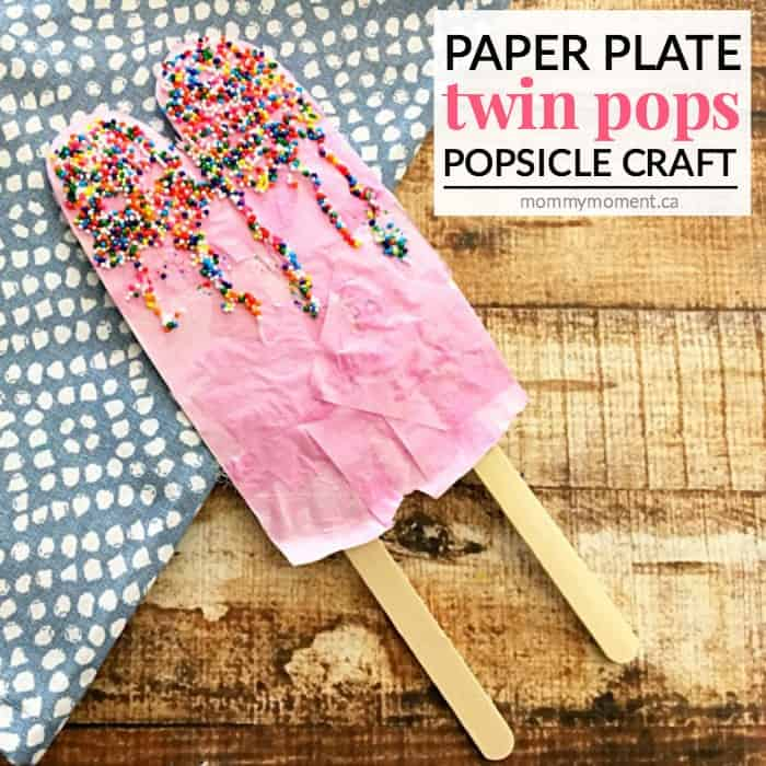 paper plate popsicle craft