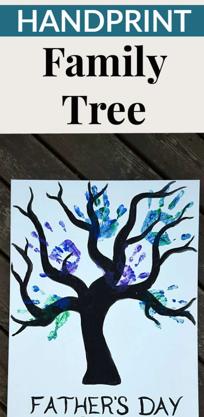 handprint fathers day craft