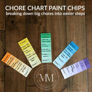 PAINT CHIP CHORE CHART FOR KIDS