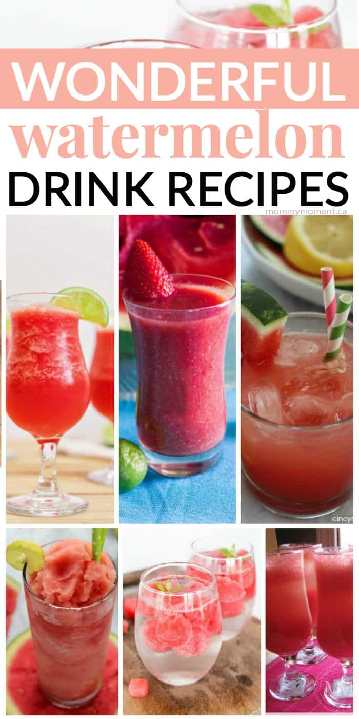 Wonderful watermelon drink recipes mommy moment for Drink recipes without alcohol