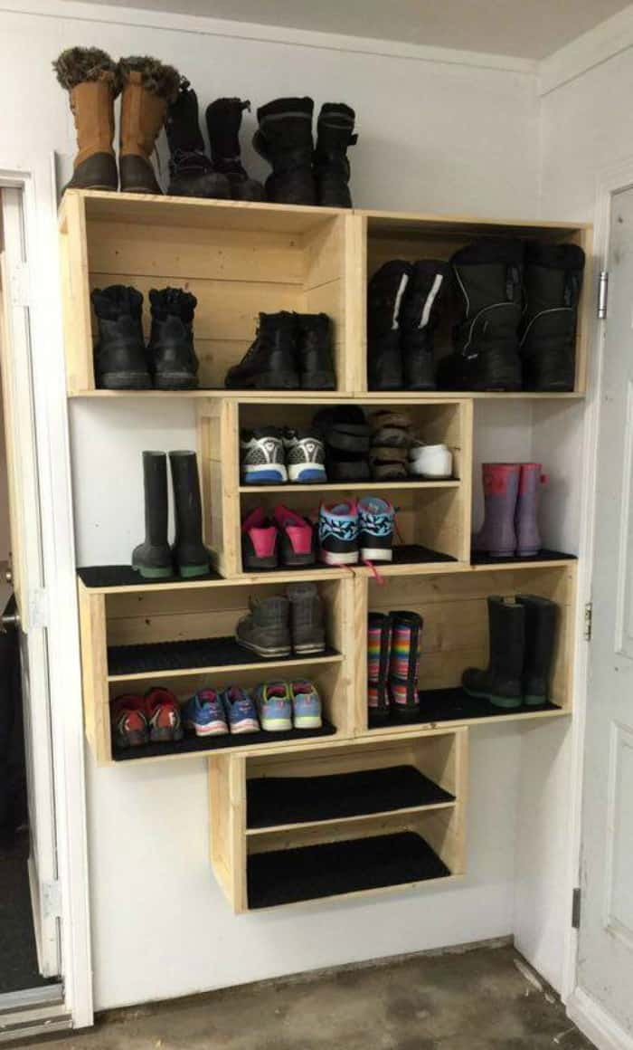DIY Crate Shoe Storage Part 58