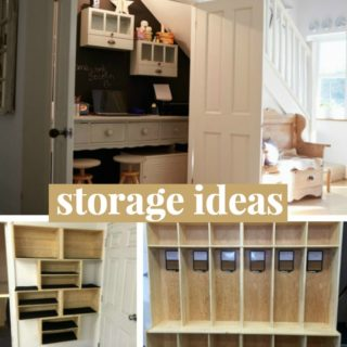 DIY STORAGE IDEAS FOR BACK TO SCHOOL