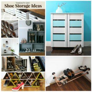 20 DIY SHOE STORAGE IDEAS