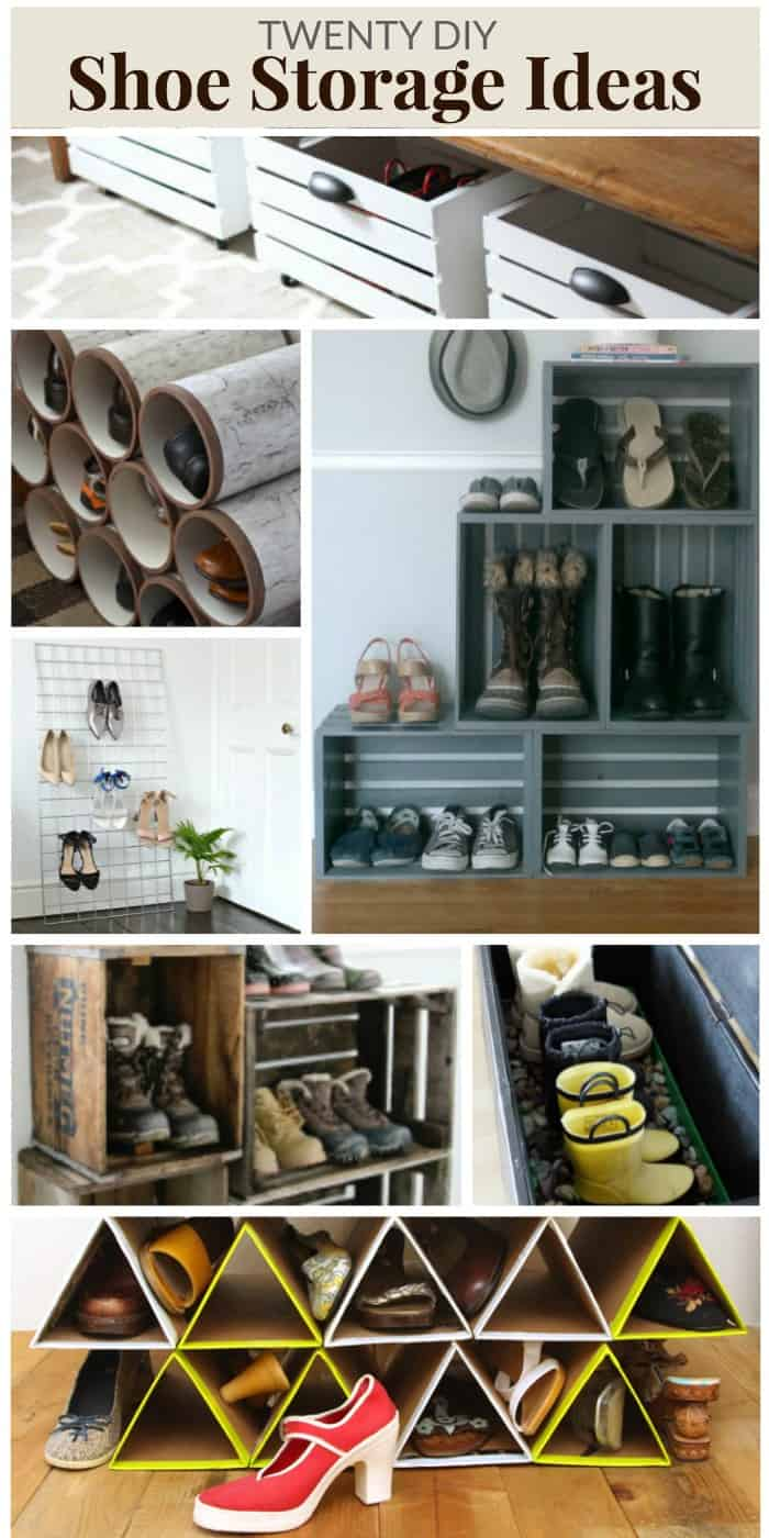 20 diy shoe storage ideas mommy moment for Diy shoe storage with cardboard