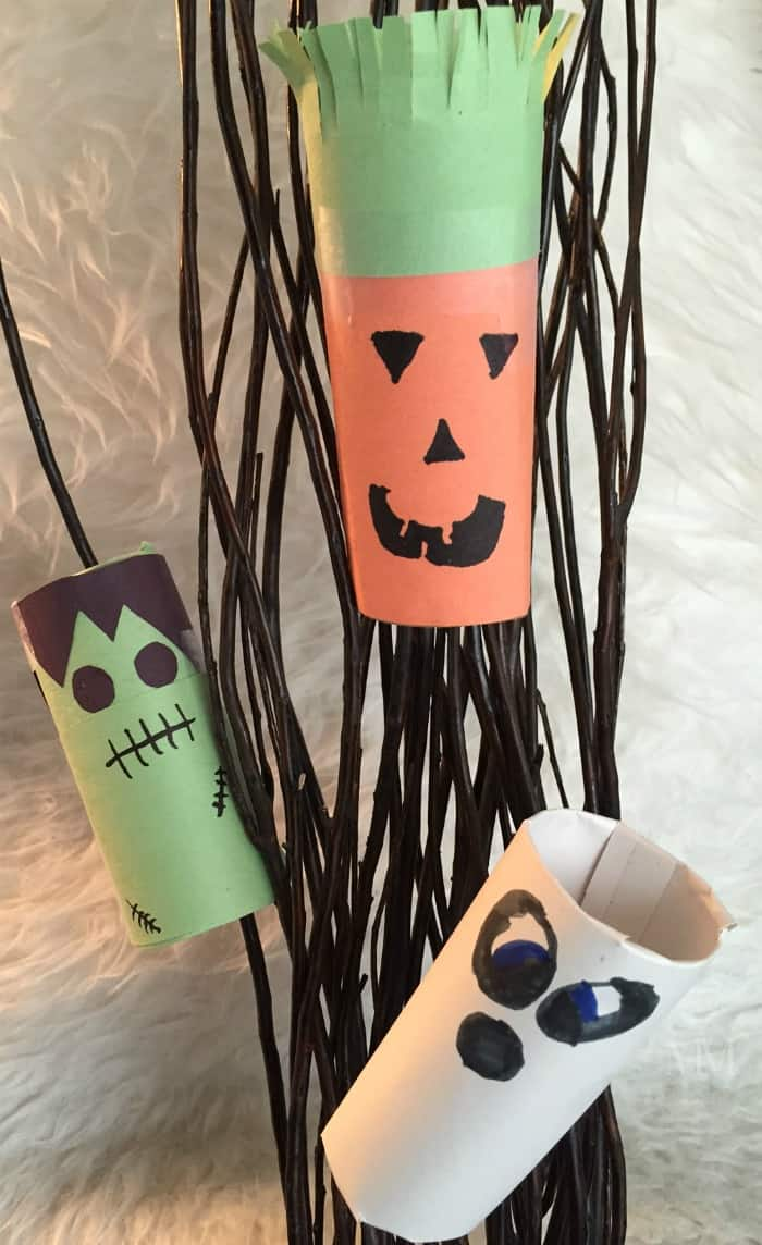 toilet paper tube craft for Halloween