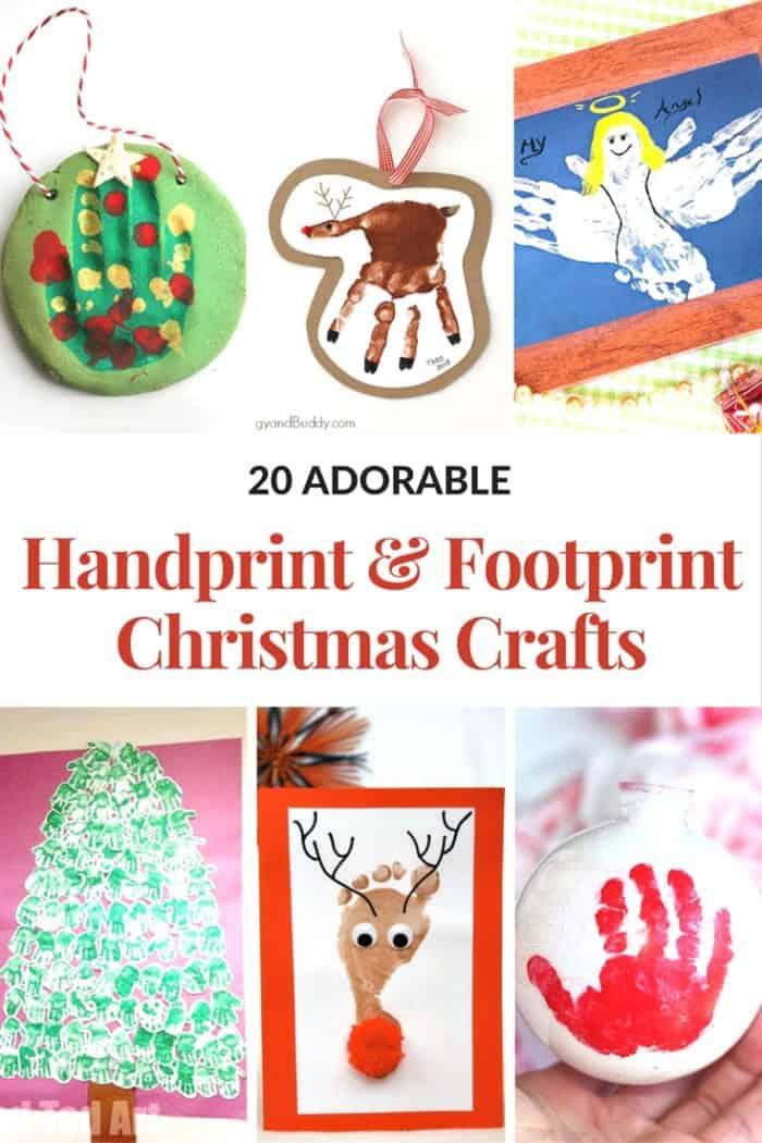 Christmas Handprint and Footprint Crafts