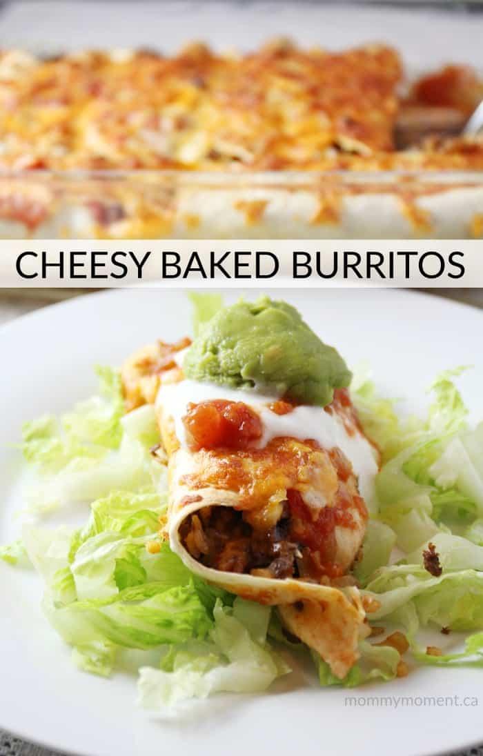 Cheesy Baked Burritos