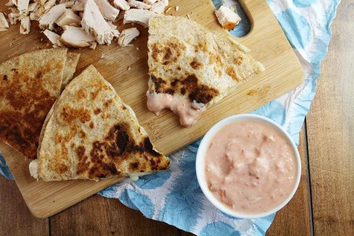 turkey leftover quesadillas