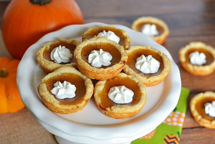 Mini Pumpkin Pie Tart