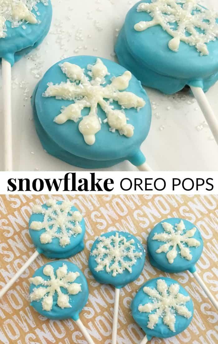 snowflake oreo pops cookies
