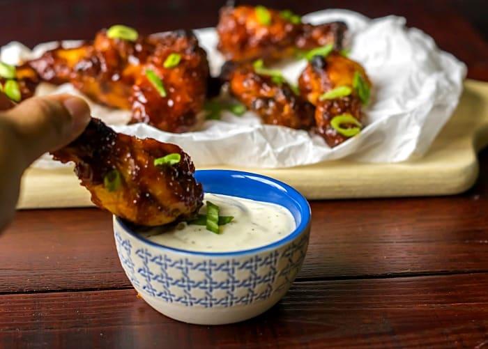Honey BBQ Baked Chicken Wings