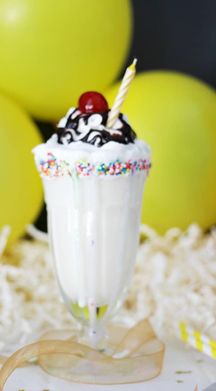 cake mix milkshake