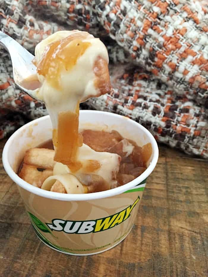 Subway French onion soup