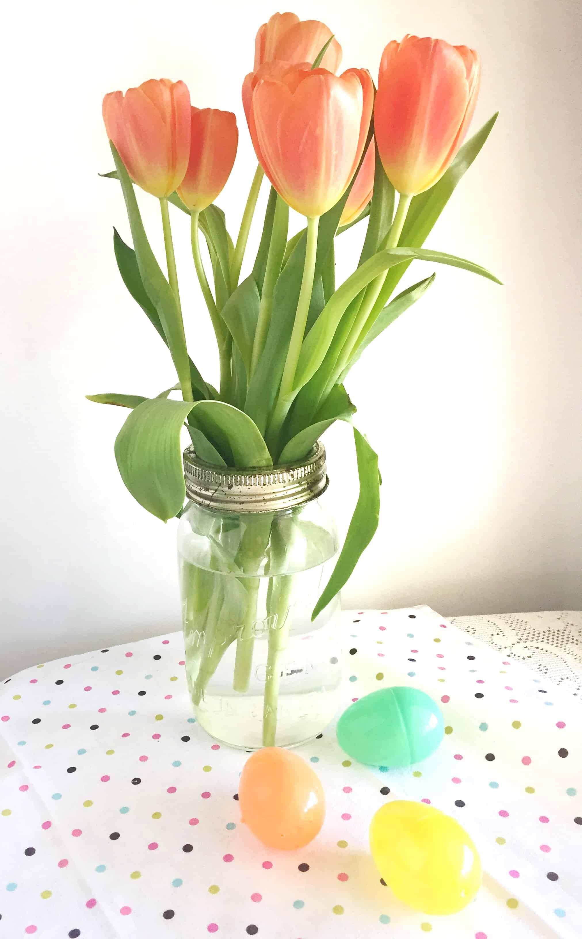 Tulip Mason Jar Centerpiece