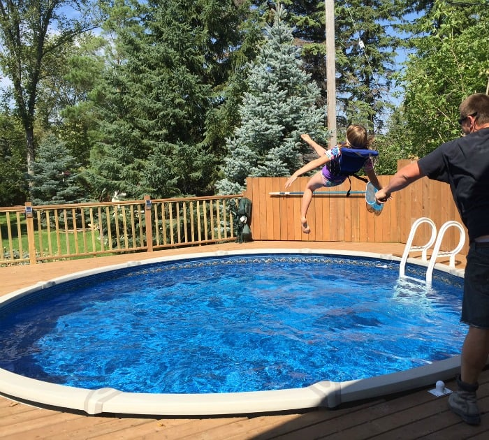I can see countless summers playing with our girls in the pool and making memories with them and their friends. Having our children around and as they grow ... & ADDING AN ABOVE GROUND POOL AND DECK - Mommy Moment