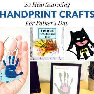 20 HEARTWARMING HANDPRINT CRAFTS FOR FATHER'S DAY