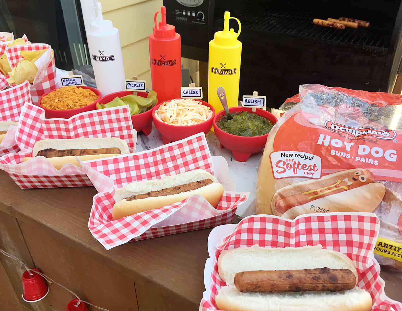 DIY hot dog bar