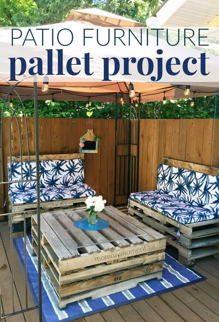 Beautiful Last fall we put an above ground pool and deck into our backyard I knew I wanted a little space with patio Furniture on the deck to be able to relax and